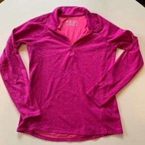 New Balance Pullover Pink 1/2 Zip Medium Collar